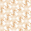 Seamless pattern background from plant motive in retro style - Stok Vektr