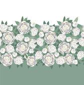 White flowers peonies — Stock Vector
