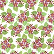 Seamless pattern with crimson flowers — Stock Vector