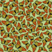 Seamless background from butterflies — Stock Vector