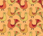Nahtlose Muster von Vögeln — Stockvektor