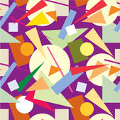 Abstract seamless pattern from geometric figures — Stockvektor