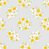Seamless pattern with flowers daffodils — Stock Vector