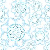 Seamless mönster med lacy blommor på ljusblå bakgrund — Stockvektor
