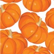 Seamless background with pumkins on white - Stock Vector