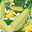 Seamless pattern with vegetable marrow — Imagen vectorial