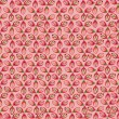 Seamless pattern with flower seeds on pink background - Stock Vector