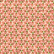 Seamless pattern with flower seeds on light pink background - Stock Vector