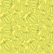 Seamless pattern with winter cherry on yellow background - Grafika wektorowa
