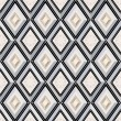 Seamless pattern with gray and beige diamonds - Grafika wektorowa
