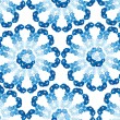 Seamless pattern from tendril blue flowers delphinium — Stock Vector