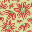Seamless pattern with hot chilly pepper - Stock vektor
