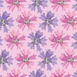 Floral seamless pattern, pink flowers bluebell - Stock vektor
