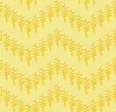 Floral pattern seamless. Flower vector motif on yellow background. Elegant wallpaper — Stock Vector