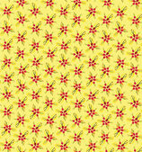 Seamless pattern with plant motif on yellow background, Print — Stock Vector