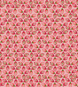 Seamless pattern with flower seeds on pink background — Stock Vector