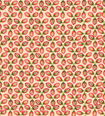 Seamless pattern with flower seeds on light pink background — Stock Vector
