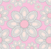 Floral pattern seamless. Flower vector motif on light pink background. Elegant wallpaper — Stock Vector
