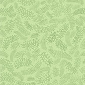 Seamless pattern with leaves on green background, Print — Stock Vector