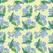 ������, ������: Seamless pattern with bouquets of blue flowers forget me not