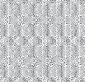 Floral Pattern Seamless on gray background — Stock Vector