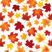 Autumn maple leaves seamless vector pattern background — Stock Vector