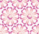 Seamless pattern from tendril white, pink and lilac flowers delphinium — Stock Vector