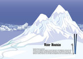 Winter mountains — Stock Vector