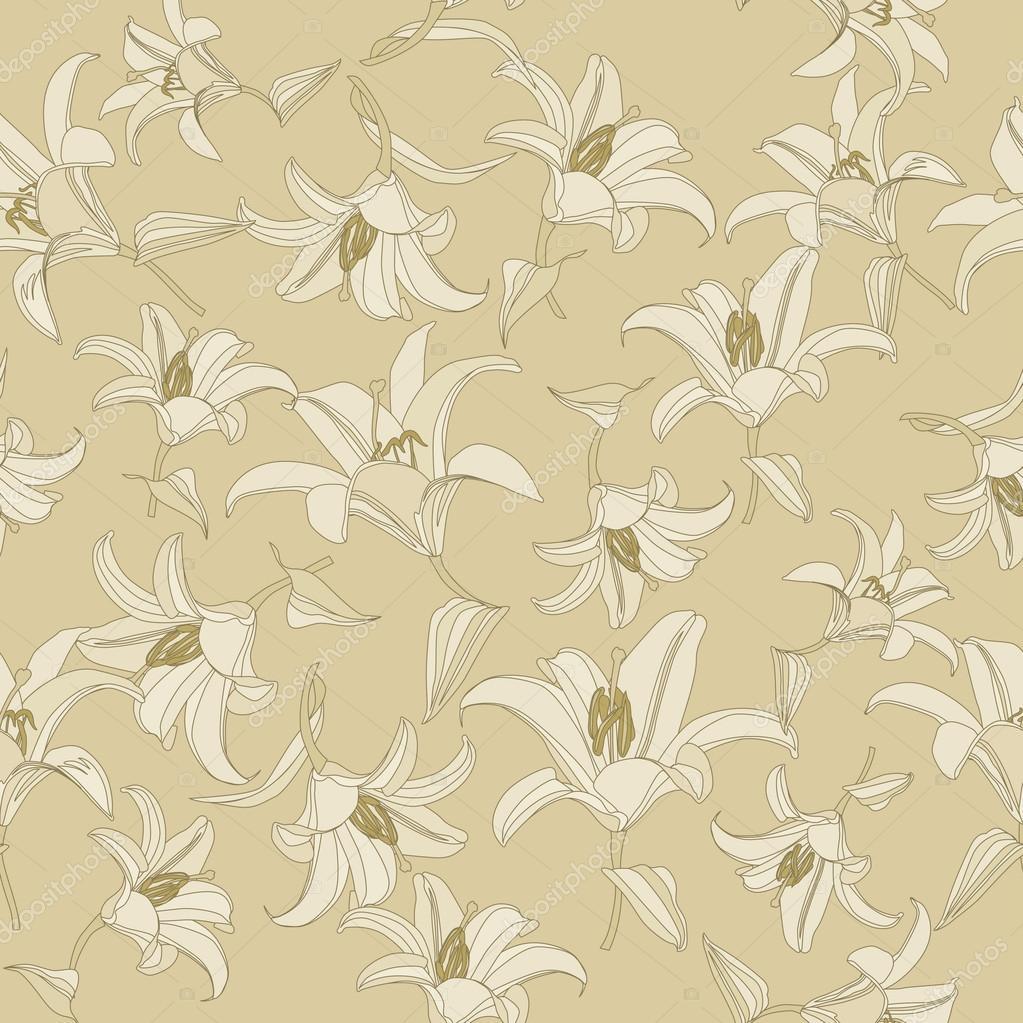 Floral Pattern Seamless. Flower Vector Background. Elegant