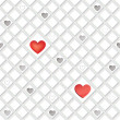 Seamless pattern with hearts — Stock Photo