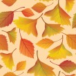Autumn leaves seamless pattern background — Stock Vector