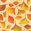 Autumn leaves seamless pattern background - Grafika wektorowa