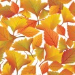 Stock Vector: Autumn leaves seamless pattern background