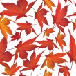 Autumn maple leaves seamless pattern background — Stock Vector