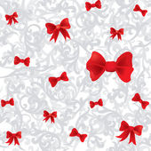 Seamless bow christmas background — Stockvektor
