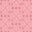 Love hearts Valentin's Day Seamless Pattern. Bright Vector seamless background. — Stockvectorbeeld