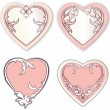 Set of vector Valentine day hearts — Stok Vektör