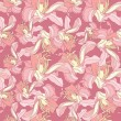 Floral pattern seamless. Flower vector background. Elegant wallpaper. — Stockvectorbeeld