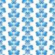 Seamless pattern with leaves and flowers on white background in russian style — Stock Vector #20003081