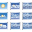 Royalty-Free Stock Vector Image: Weather report icons. Vector illustration