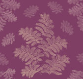 Leaves seamless pattern on lilac background — Stock Vector
