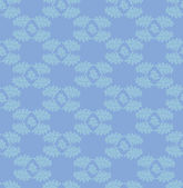 Floral pattern seamless. Flourish vector motif on blue background. Oriental wallpaper. — Stock Vector