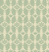 Leaves seamless pattern on gray green background — Stock Vector