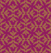 Floral seamless pattern. Ornament vector motif on purple background. Elegant wallpaper. — Stock Vector