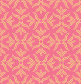 Leaves seamless pattern on light orange background — Stock Vector