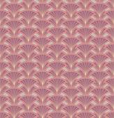 Floral pattern seamless. Fan vector motif on beige background. Elegant wallpaper. — Stock Vector