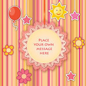 Tarjeta de felicitación infantil — Vector de stock