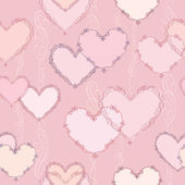 Love hearts Valentin's Day Seamless Pattern. Bright Vector seamless background. — ストックベクタ