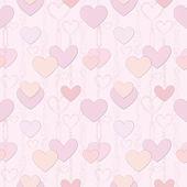 Love hearts Valentin's Day Seamless Pattern. Bright Vector seamless background. — Stock vektor