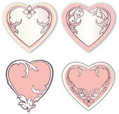 Set of vector Valentine day hearts — Vettoriale Stock
